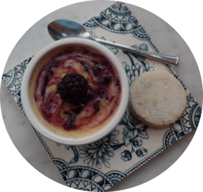 Lemon and Blackberry Posset