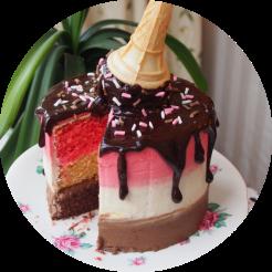 Neapolitan Drip Cake