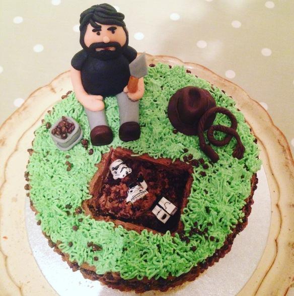 Tremendous Indiana Jones Meets Star Wars Archaeology Birthday Cake Crumble Funny Birthday Cards Online Inifodamsfinfo