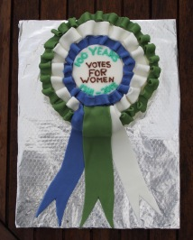 Votes for women cake